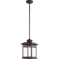 "Picture for category Outdoor Pendant 1 Light Fixtures with Oiled Bronze Finish Medium Bulb 9"" 100 Watts"