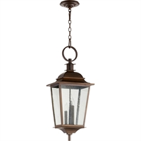 Picture for category Outdoor Pendant 3 Light With Oiled Bronze Finish Candelabra Base Bulbs 12 inch 180 Watts