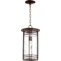 Picture for category Outdoor Pendant 1 Light With Oiled Bronze Finish Medium Base Bulbs 9 inch 100 Watts