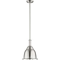 Picture for category Pendants 1 Light With Satin Nickel Finish Medium Base Bulb Type 11 inch 100 Watts