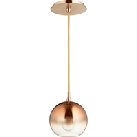 Picture for category Pendants 1 Light With Satin Copper Finish Medium Base Bulb Type 6 inch 60 Watts