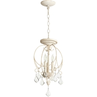 Picture for category Semi Flush Mounts 3 Light With Persian White Finish Candelabra Base Bulbs 11 inch 180 Watts