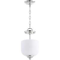 Picture for category Semi Flush Mounts 3 Light With Polished Nickel Finish Candelabra Base Bulbs 8 inch 180 Watts