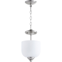 Picture for category Semi Flush Mounts 3 Light With Satin Nickel Finish Candelabra Base Bulbs 8 inch 180 Watts