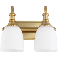 Picture for category Bathroom Vanity 2 Light With Aged Brass Finish Medium Base Bulbs 13 inch 200 Watts