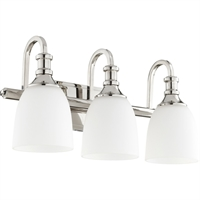 Picture for category Bathroom Vanity 3 Light With Polished Nickel Finish Medium Base Bulbs 20 inch 300 Watts