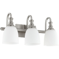 Picture for category Bathroom Vanity 3 Light With Satin Nickel Finish Medium Base Bulbs 20 inch 300 Watts