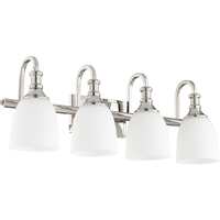Picture for category Bathroom Vanity 4 Light With Polished Nickel Finish Medium Base Bulbs 28 inch 400 Watts