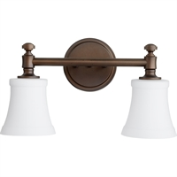 Picture for category Bathroom Vanity 2 Light With Oiled Bronze Finish Medium Base Bulbs 16 inch 200 Watts
