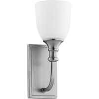 Picture for category Wall Sconces 1 Light With Satin Nickel Finish Medium Base Bulbs 5 inch 100 Watts