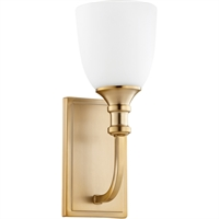 Picture for category Wall Sconces 1 Light With Aged Brass Finish Medium Base Bulb Type 5 inch 100 Watts