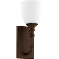 Picture for category Wall Sconces 1 Light With Oiled Bronze Finish Medium Base Bulbs 5 inch 100 Watts