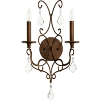Picture for category Wall Sconces 2 Light With Vintage Copper Finish Candelabra Base Bulbs 11 inch 120 Watts