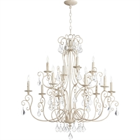 Picture for category Chandeliers 12 Light With Persian White Finish Candelabra Base Bulbs 35 inch 720 Watts
