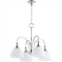 Picture for category Chandeliers 4 Light With Polished Nickel Finish Medium Base Bulbs 23 inch 400 Watts