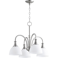 Picture for category Chandeliers 4 Light With Satin Nickel Finish Medium Base Bulbs 23 inch 400 Watts