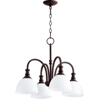 Picture for category Chandeliers 4 Light With Oiled Bronze Finish Medium Base Bulbs 23 inch 400 Watts