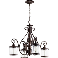 Picture for category Chandeliers 4 Light With Vintage Copper Finish Medium Base Bulbs 27 inch 400 Watts
