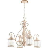 Picture for category Chandeliers 4 Light With Persian White Finish Medium Base Bulbs 27 inch 400 Watts