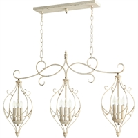 Picture for category Island Lighting 9 Light With Persian White Finish Candelabra Base Bulbs 10 inch 540 Watts