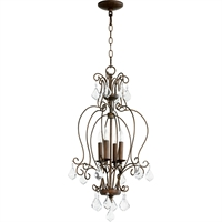 Picture for category Pendants 4 Light With Vintage Copper Finish Candelabra Base Bulbs 15 inch 240 Watts