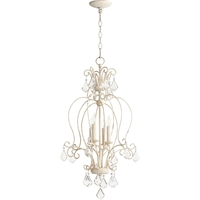 Picture for category Pendants 4 Light With Persian White Finish Candelabra Base Bulbs 15 inch 240 Watts