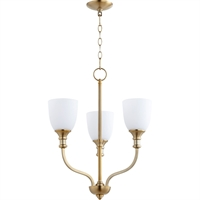 Picture for category Chandeliers 3 Light With Aged Brass Finish Medium Base Bulb Type 18 inch 180 Watts