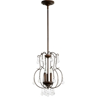 Picture for category Pendants 3 Light With Vintage Copper Finish Candelabra Base Bulbs 13 inch 180 Watts