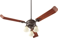 Picture for category Fan Light Kits 3 Light With Oiled Bronze Finish Candelabra Base Bulbs 13 inch 180 Watts