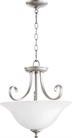 Picture for category Semi Flush Mounts 2 Light With Classic Nickel Finish Medium Base Bulbs 18 inch 150 Watts