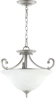 Picture for category Semi Flush Mounts 3 Light With Classic Nickel Finish Medium Base Bulbs 18 inch 225 Watts