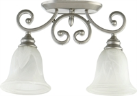 Picture for category Flush Mounts 2 Light With Classic Nickel Finish Medium Base Bulbs 7 inch 200 Watts