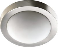 Picture for category Flush Mounts 2 Light With Satin Nickel Finish Medium Base Bulbs 11 inch 80 Watts