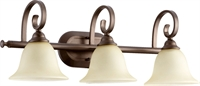Picture for category Bathroom Vanity 3 Light With Oiled Bronze Finish Medium Base Bulbs 26 inch 300 Watts