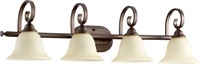 Picture for category Bathroom Vanity 4 Light With Oiled Bronze Finish Medium Base Bulbs 36 inch 400 Watts