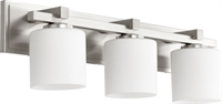 Picture for category Bathroom Vanity 3 Light With Satin Nickel Finish Medium Base Bulbs 24 inch 300 Watts