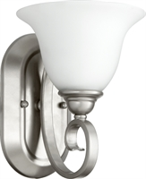 Picture for category Wall Sconces 1 Light With Classic Nickel Finish Medium Base Bulbs 7 inch 100 Watts
