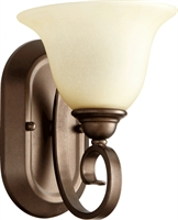 Picture for category Wall Sconces 1 Light With Oiled Bronze Finish Medium Base Bulbs 7 inch 100 Watts