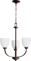 Picture for category Chandeliers 3 Light With Oiled Bronze Finish Medium Base Bulbs 22 inch 180 Watts