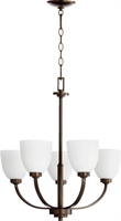 Picture for category Chandeliers 5 Light With Oiled Bronze Finish Medium Base Bulbs 26 inch 300 Watts