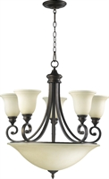 Picture for category Chandeliers 5 Light With Oiled Bronze Finish Medium Base Bulbs 29 inch 300 Watts