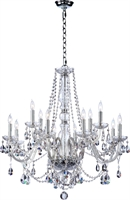 Picture for category Chandeliers 12 Light With Chrome Finish Candelabra Base Bulbs 26 inch 720 Watts