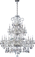 Picture for category Chandeliers 18 Light With Chrome Finish Candelabra Base Bulbs 37 inch 1080 Watts