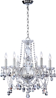 Picture for category Chandeliers 6 Light With Chrome Finish Candelabra Base Bulb Type 23 inch 360 Watts