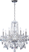 Picture for category Chandeliers 8 Light With Chrome Finish Candelabra Base Bulb Type 23 inch 480 Watts