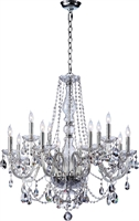 Picture for category Chandeliers 12 Light With Chrome Finish Candelabra Base Bulbs 32 inch 720 Watts