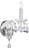 Picture for category Wall Sconces 1 Light With Chrome Finish Candelabra Base Bulb Type 5 inch 60 Watts