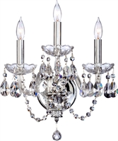 Picture for category Wall Sconces 3 Light With Chrome Finish Candelabra Base Bulbs 14 inch 180 Watts