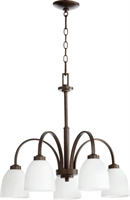 Picture for category Chandeliers 5 Light With Oiled Bronze Finish Medium Base Bulbs 26 inch 500 Watts