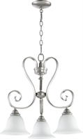 Picture for category Chandeliers 3 Light With Classic Nickel Finish Medium Base Bulbs 21 inch 300 Watts